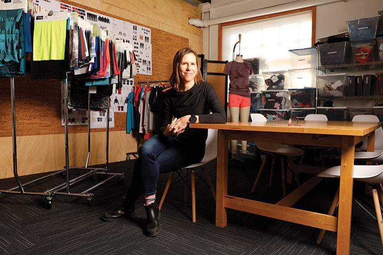 Sally Bergesen built a business around running and athleisure wear, but there's nothing casual about her activism