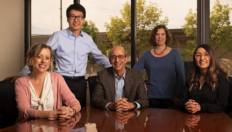 MISSION-DRIVEN. Adler Giersch founding principal Richard H. Adler, seated, with, from left, Melissa D. Carter, managing partner; Jake Zhang; Jenny Iacobucci; and Maritza Moreno-Sanchez.