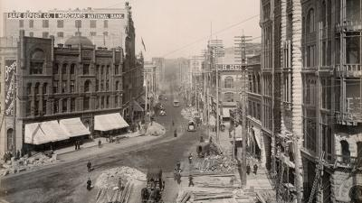 Seattle's Pioneer Square neighborhood in 1890