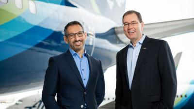 Ben Minicucci, left, will replace Brad Tilden as Alaska Air Group CEO.