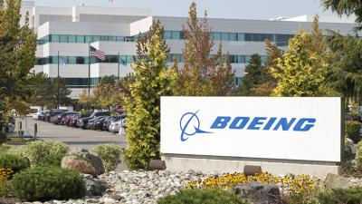 Boeing building in Everett, Washington