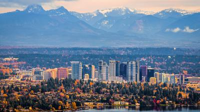 Bellevue, Washington is on the list for income inequaltiy