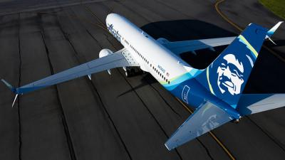 Seattle-based Alaska Airlines 737 jet